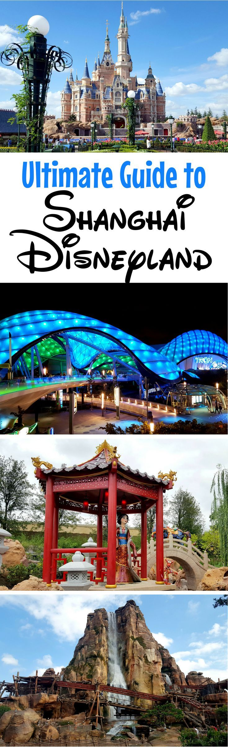 Shanghai Disneyland Guide & Review: Planning a visit to Shanghai Disney Resort in China? Take a complete photo tour of the park and castle, get insider park touring tips, and read about the unique rides like the TRON Lightcycle Power Run.