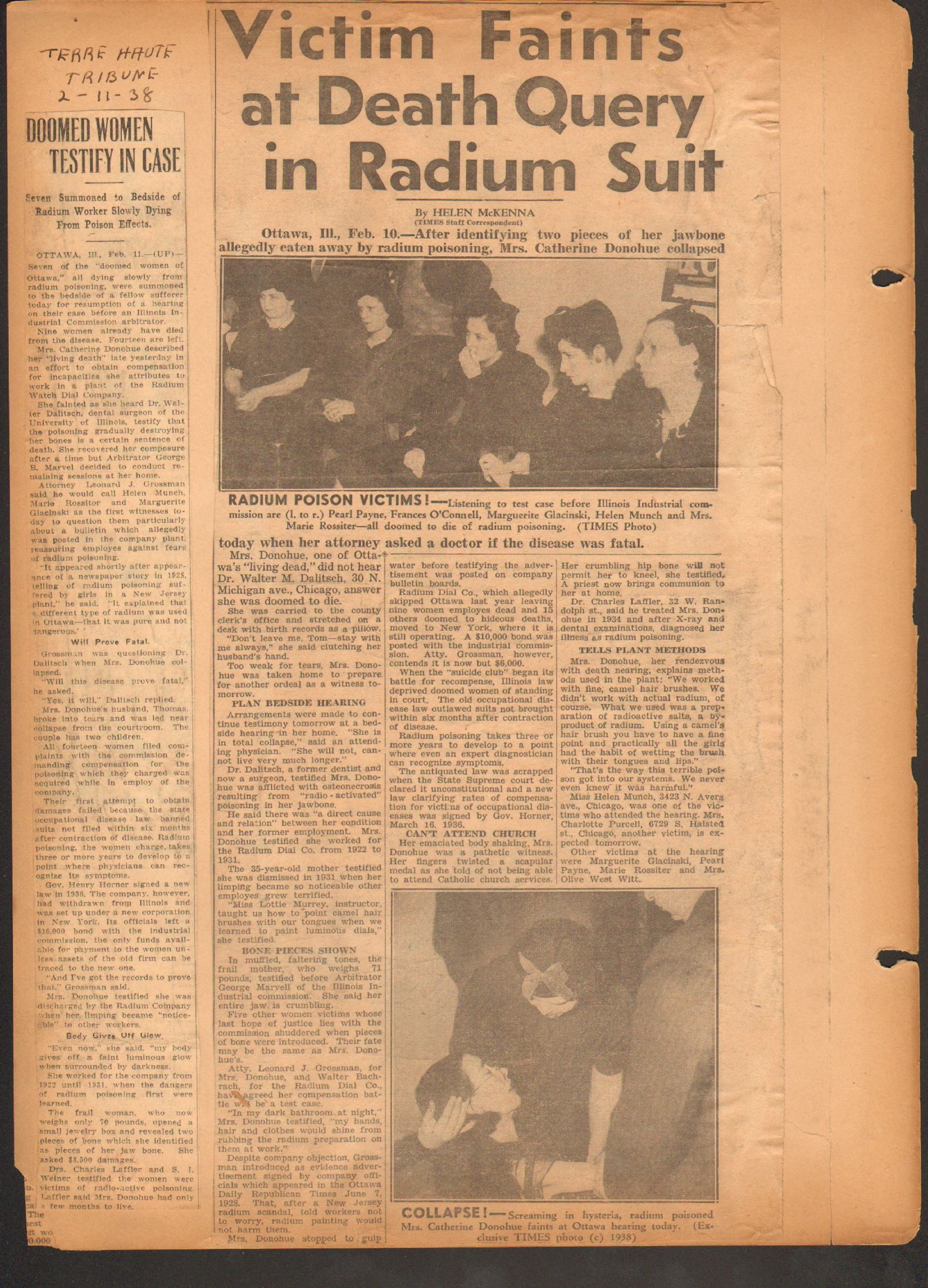 How to scrapbook newspaper clippings - Heartbreaking Newspaper Scrapbook Following The Plight Of The Radium Girls Of Ottowa Il