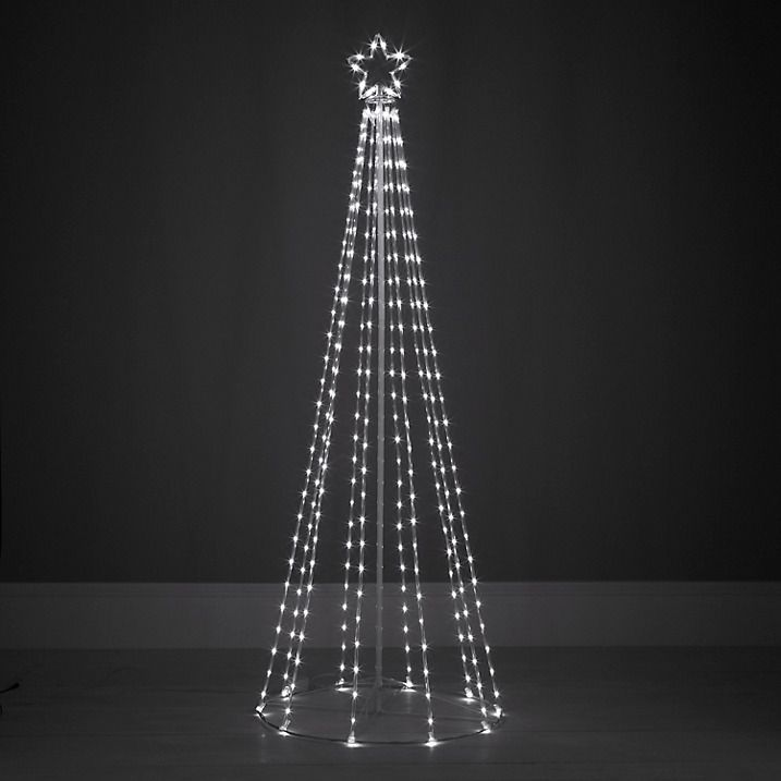 contemporary maypole tube design outdoor christmas tree light - White Outdoor Christmas Tree