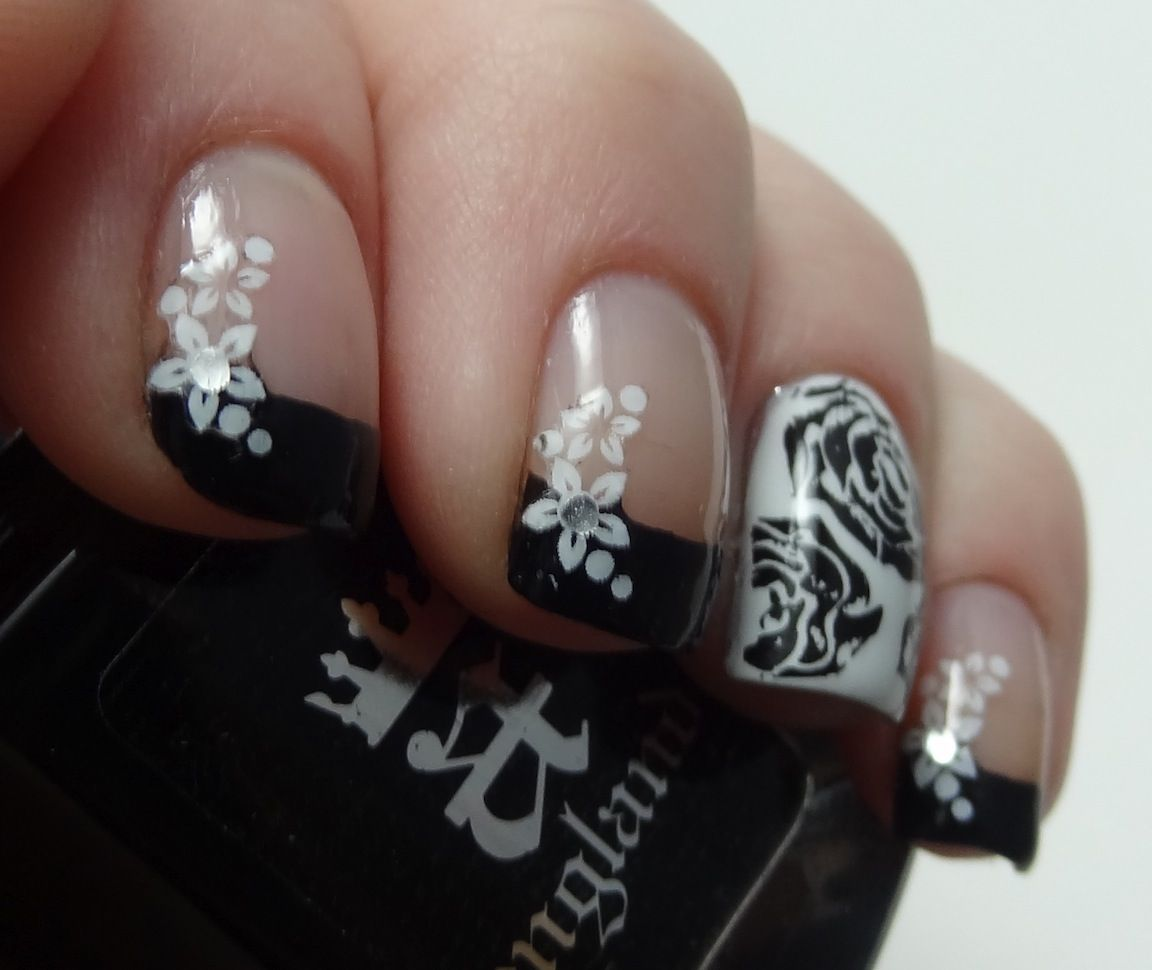 black and white french - Google Search | Nails! | Pinterest | White ...