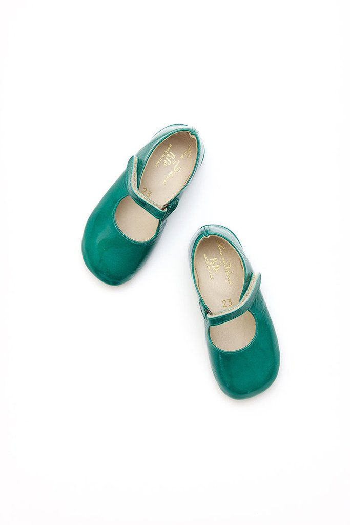 06328807ee7 frances flat in a patent emerald with adjustable