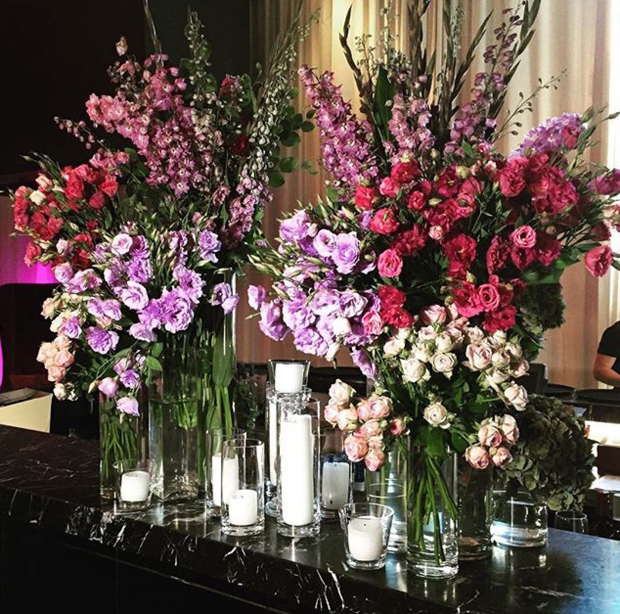 Wedding Flowers Melbourne: Wedding Reception Feature Florals