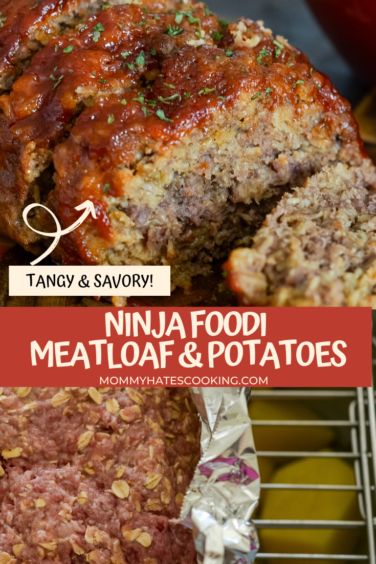 One Pot Ninja Foodi Meatloaf And Potatoes Recipe Meatloaf Foodie Recipes Ninja Cooking System Recipes