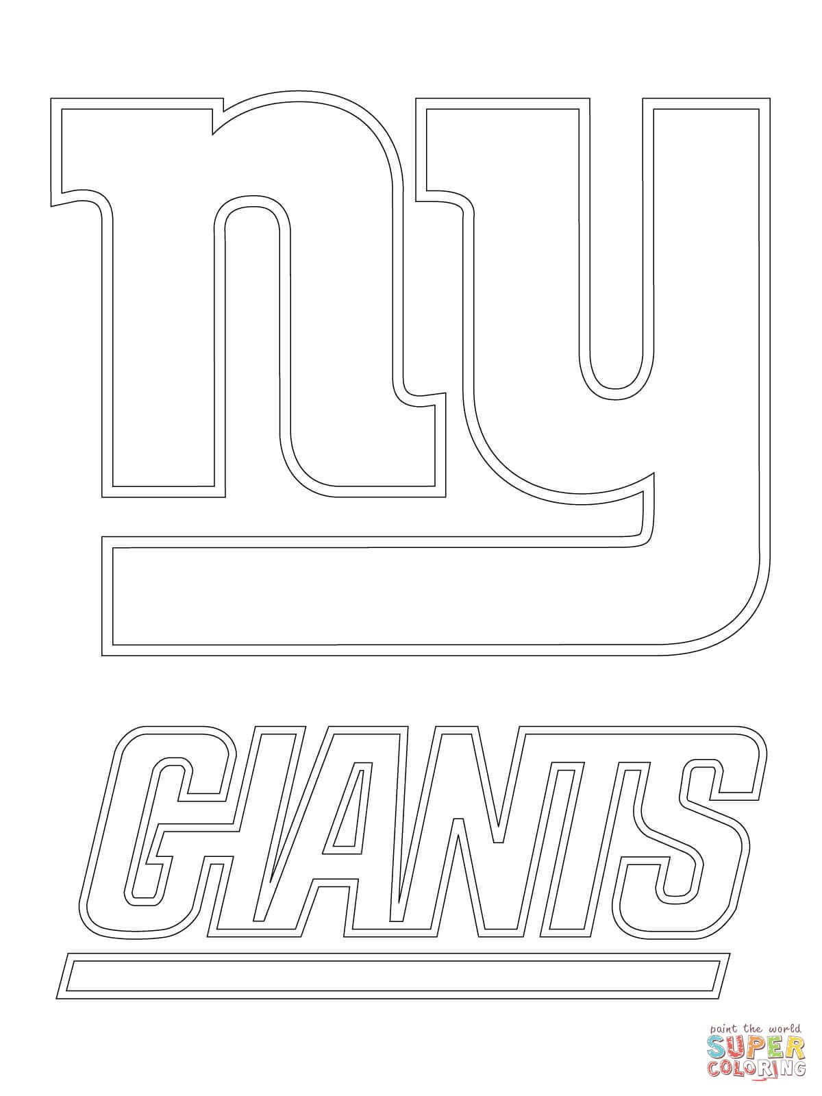 New York Giants Logo Super Coloring With Images Football