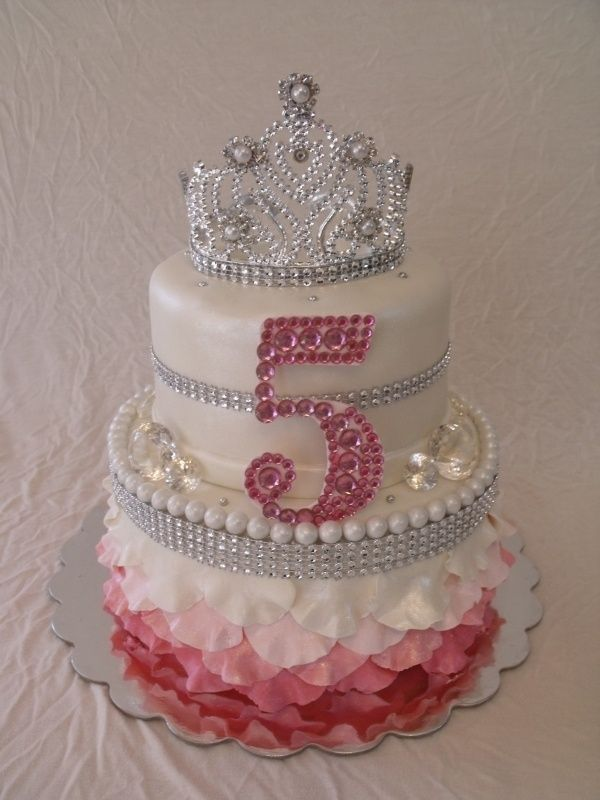 Pink Princess Bling Birthday Cake Any little girl would love to