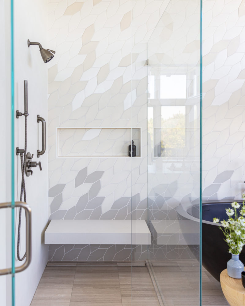 Hex Bathroom Wall Tiles By Nest Design Co Bathroom Wall Tile Bathroom Tile Inspiration Wall Tiles