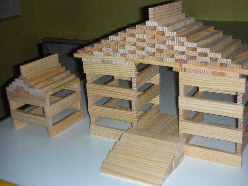 Kapla Grande Maison couleur Construction, Building et School - Modeles De Maisons A Construire