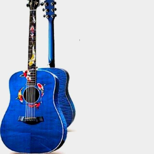 Koi Fish Guitar 1 Of The 100 Made Guitar Guitar Painting Musical Instruments