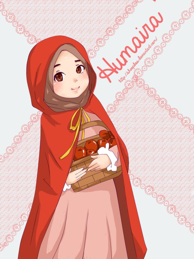 Red Riding Hood Muslimah version! Named her Humaira