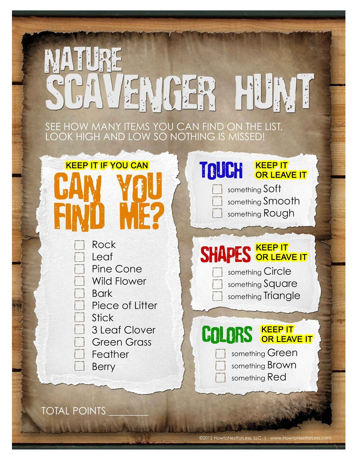 girl scout scavenger hunt clues for kids