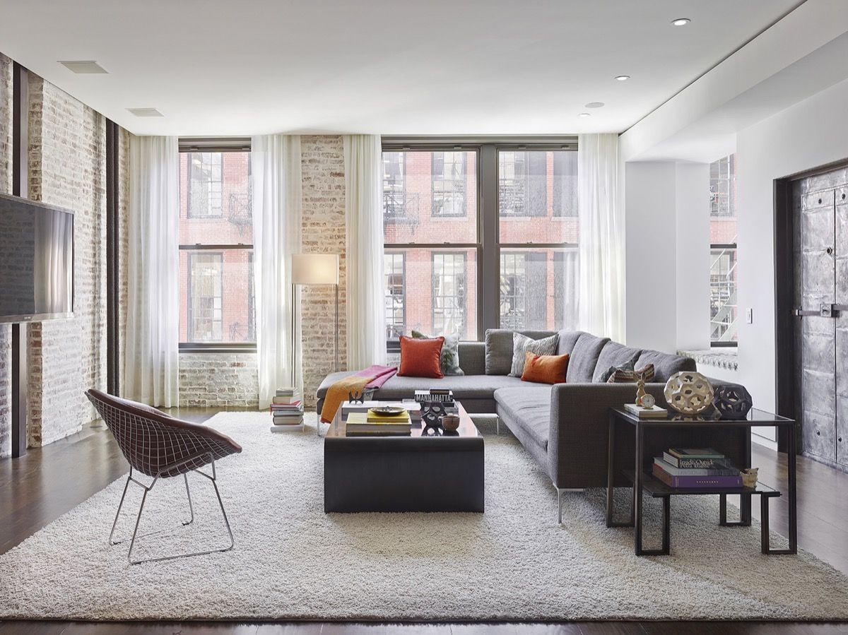 Living Rooms With Exposed Brick Walls | id | Pinterest | Bricks ...
