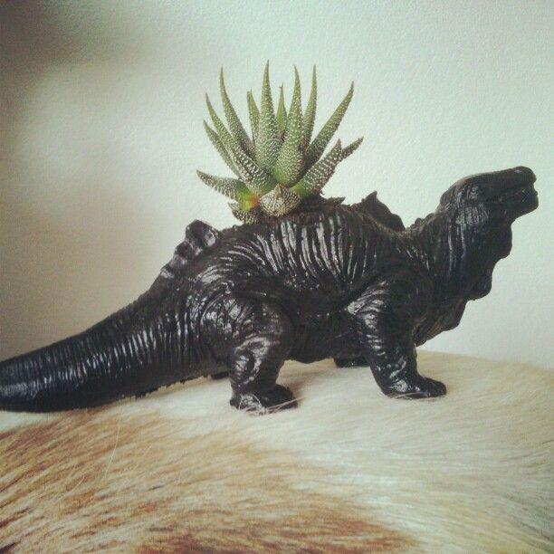 Diy Cactus In Spraypainted Dino Toy Inspired By Floor Klinkhamer Cactus Diy Dino Toys Kids Decor