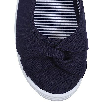 b97215bf556 Canvas Twist Front Ballet Shoes