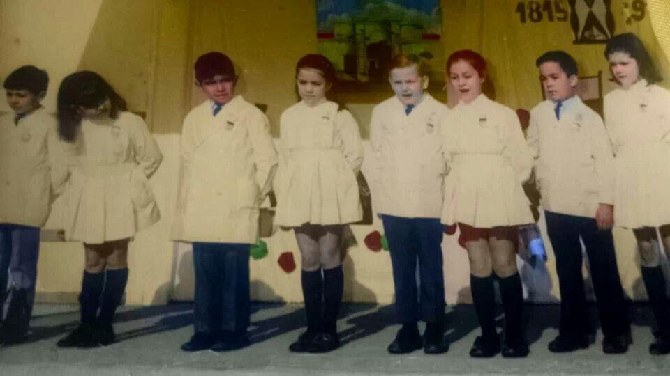 Foto coloreada de cuando iba a la primaria