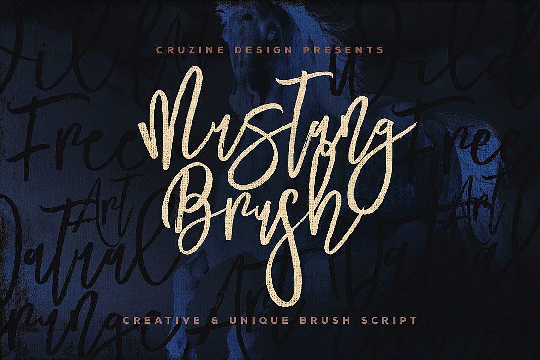 Mustang Brush Font Handwritten Script Font Brush Font Script Fonts