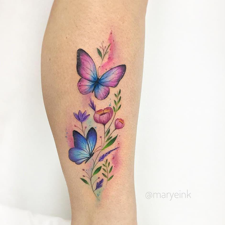 Mariposas Estilo Acuarelas Ink Mariposa Tatuaje Tatuajes De