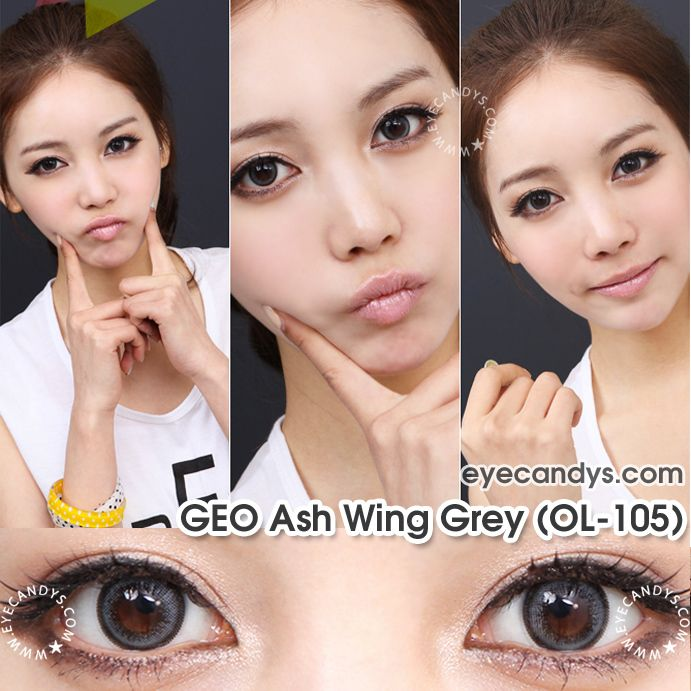 GEO Ash Wing Gray Cosmetic Contact Lens - EyeCandy's