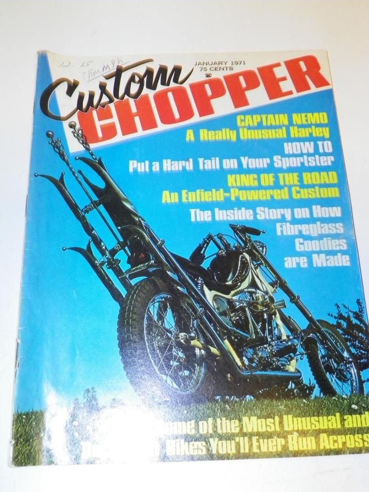 Vtg Custom Chopper January 1971 Motorcycle Magazine Motor Bike