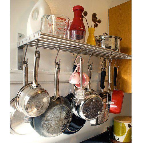 Amazon Com Ikea Grundtal Kitchen Shelf Rail And Hooks Set
