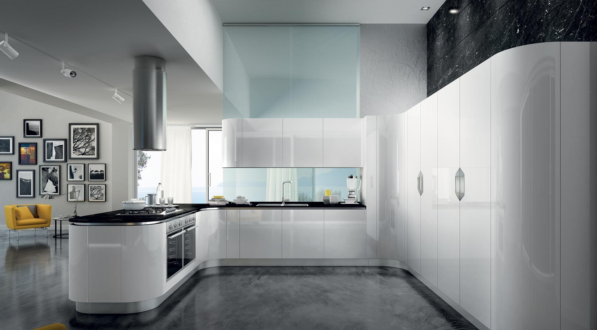 Cucina bianca. Total white kitchen. | M O D E R N K I T C H E N ...