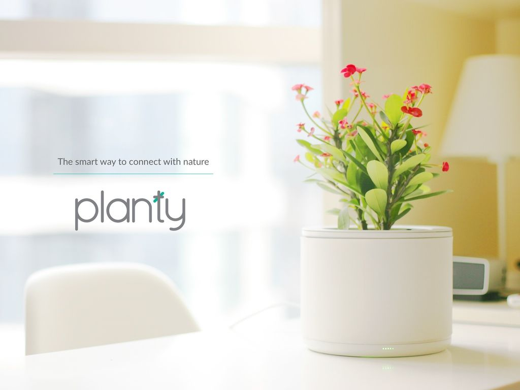 Un Pot De Fleur Planty Un Pot De Fleurs Intelligent Smart Home Gadgets Pinterest