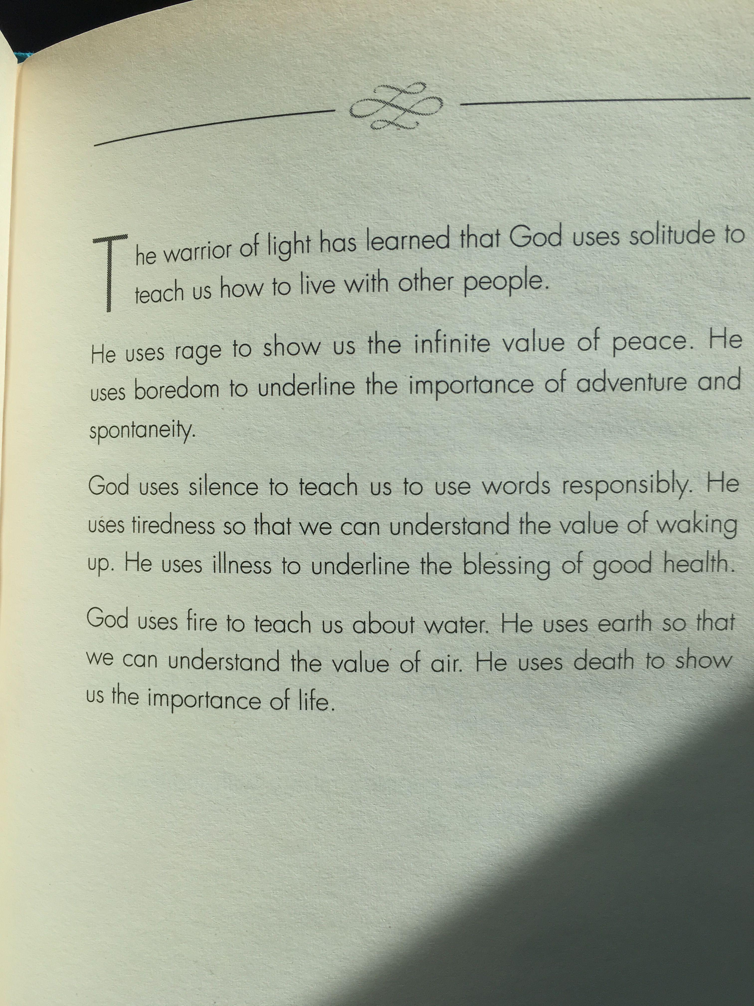 Manual Of The Warrior Of Light By Paulo Coelho Idea