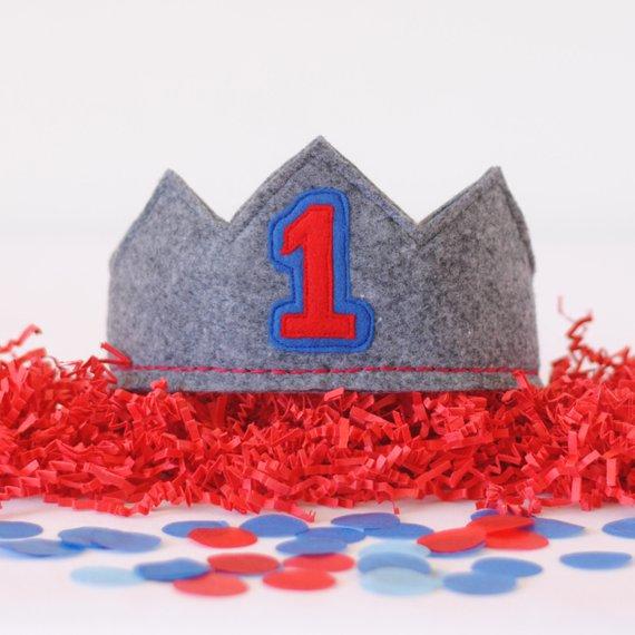 1st Birthday Crown Boy
