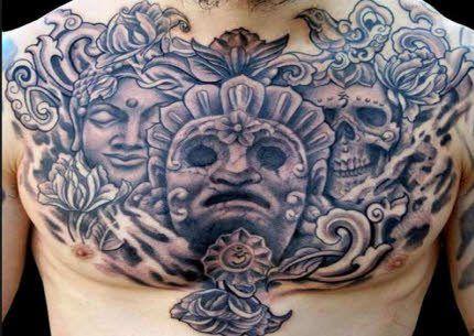 Tatuajes Para El Pecho tatuaje para hombres en pecho diferentes religiones | tatuaje estilo