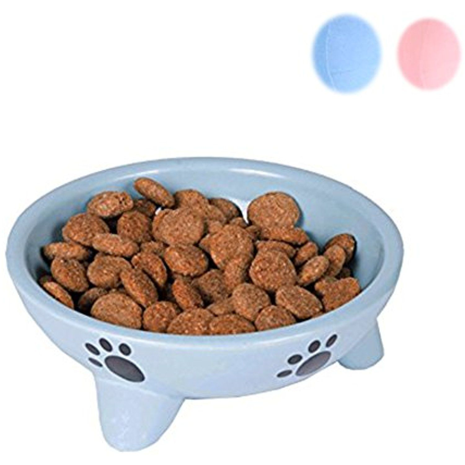 Dog Plates For Food And Water Ceramic Slow Food Bowl Dog Cat Food