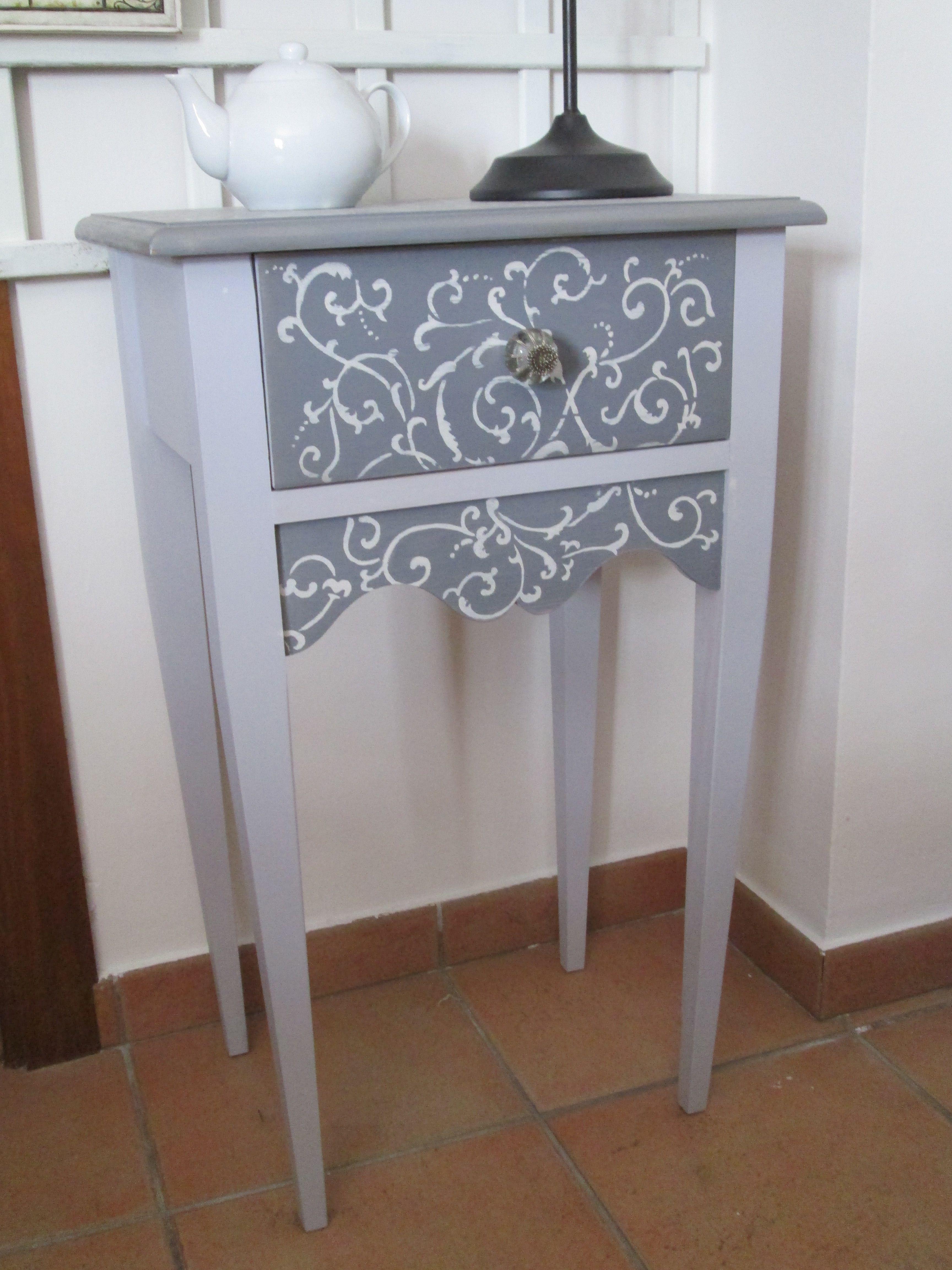 Muebles Pintados Blanco Y Gris