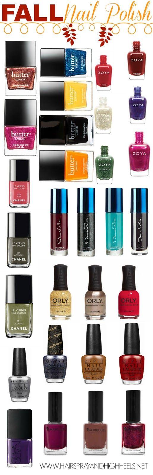Fall Nail Polish Picks! The perfect fall nail polish colors that will be perfect for the whole season! #nails #beauty