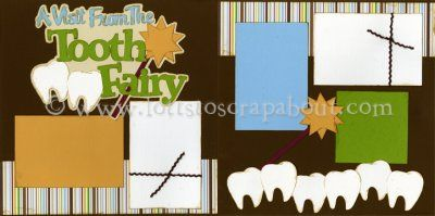 A Visit From The Tooth Fairy (Boy) Scrapbook Page Kit [toothfairyboy13] - $7.99 :: Lotts To Scrap About - Your Online Source for Scrapbook P...