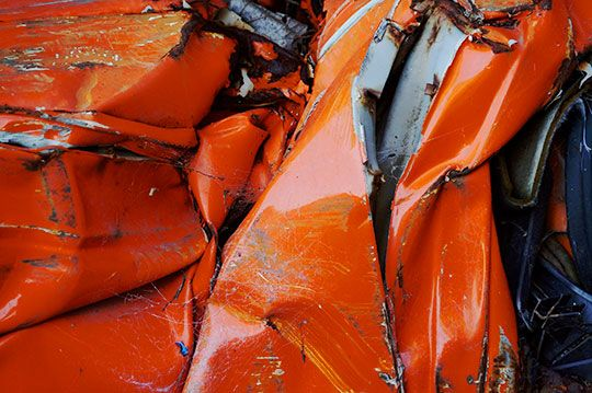 Orange Folds by Sam Freek - #abstract #contemporary #photography