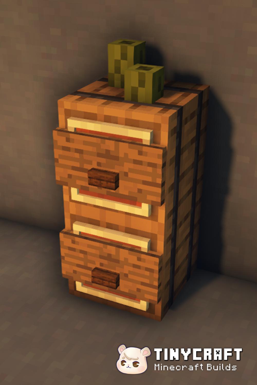 Minecraft Furniture Ideas - Dresser for Bedroom or