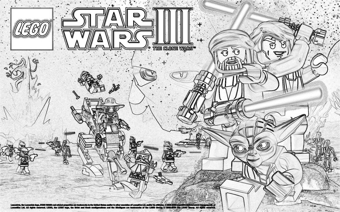 LEGO Star Wars coloring pages | Lego | Pinterest