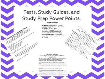 Florida Civics EOC Category 1, 2, 3, & 4 Study Guides ...