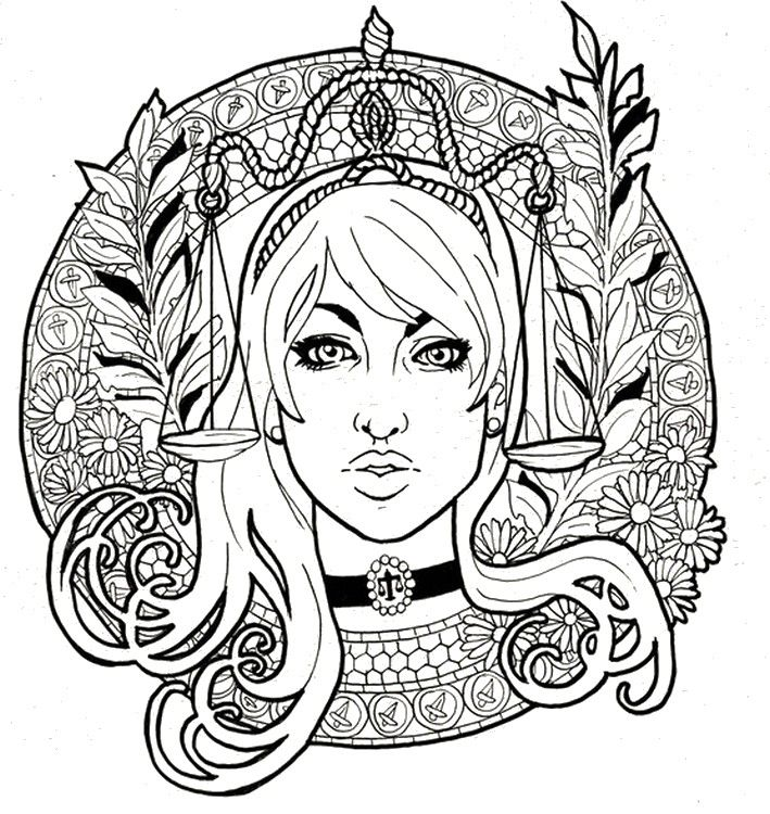 challenging coloring pages of zodiac signs If youre in the