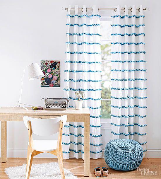 Easy Window Treatment Projects Cortinas, Hogar y Cosas para hacer