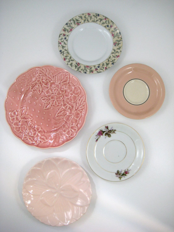 Decorative Plates Vintage Mismatched Plates Kitchen Wall Decor ...