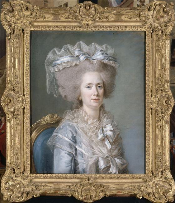 Adélaïde Labille-Guiard, Portrait of Madame Adélaïde, 1787, pastel remounted on canvas, 73 x 58.8 cm (Versailles)