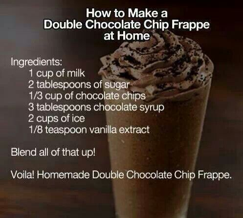 Starbucks drink Double Chocolate Chip Frap