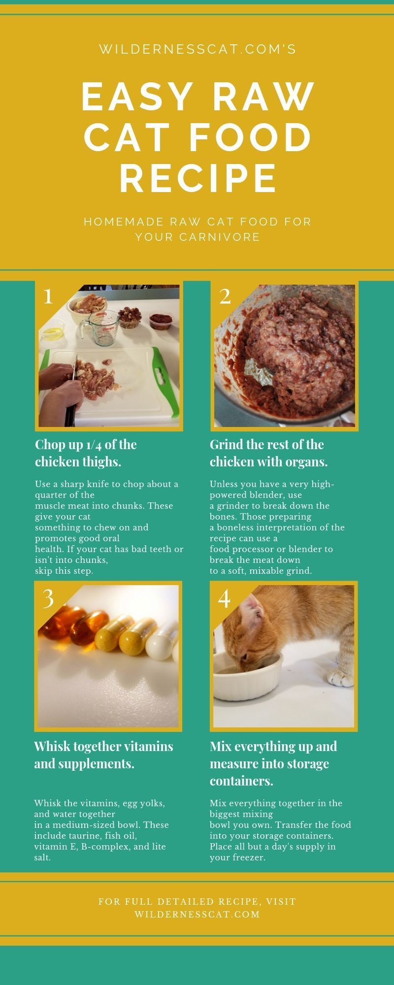 How To Make Raw Cat Food 11 Hacks To Make It Easy Raw Cat Food Recipes Homemade Raw Cat Food Healthy Cat Food