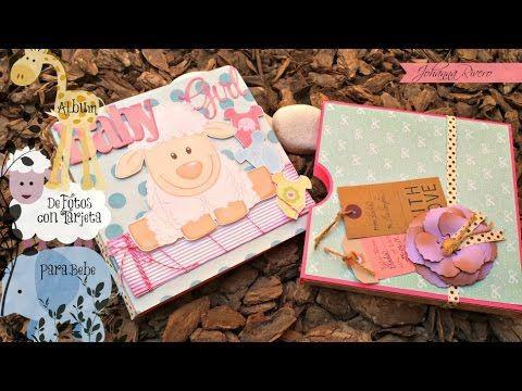 Album de fotos para bebita scrapbook decoracion de hojas paso a paso scrap albums y tarjetas - Decoracion de album de fotos ...