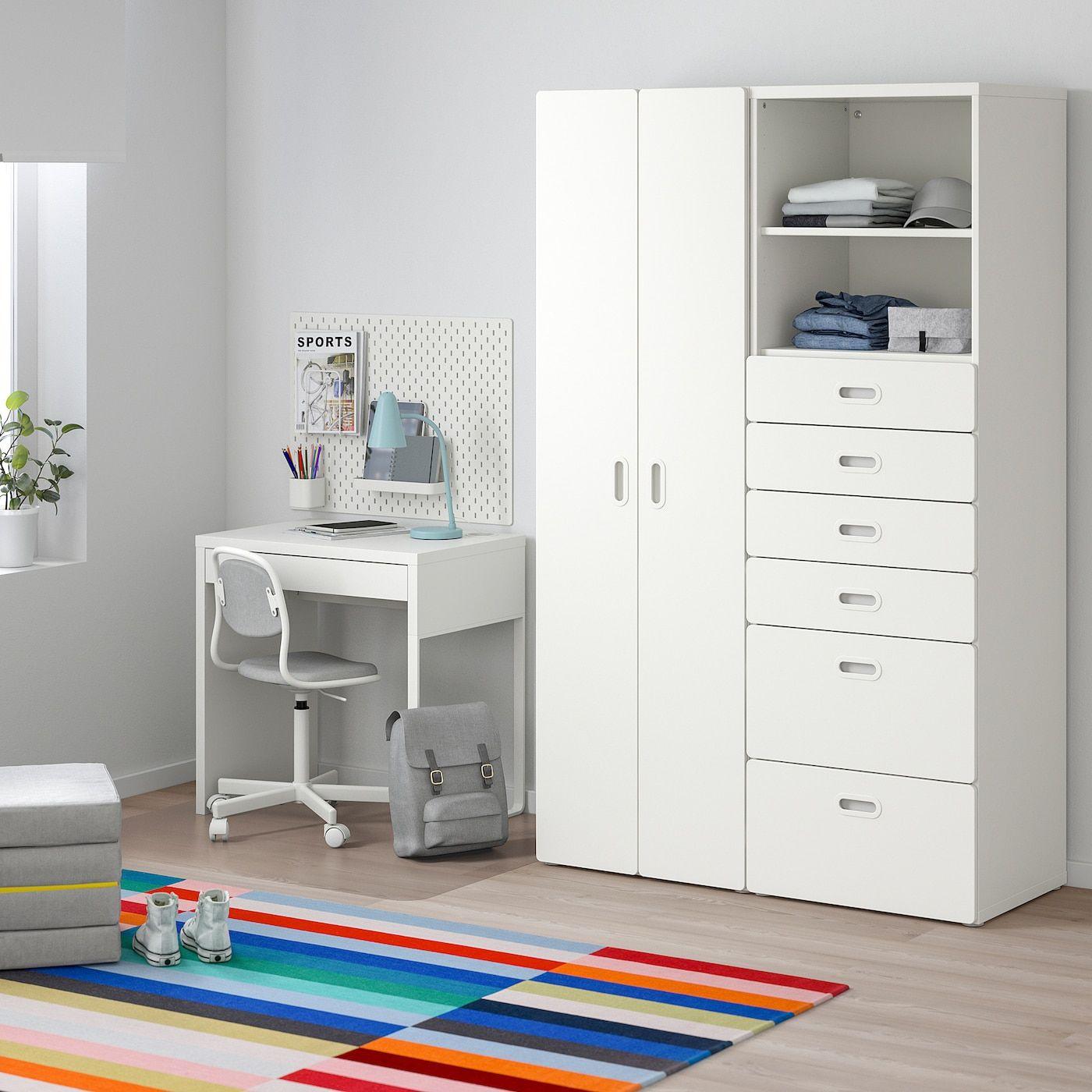 Stuva Fritids Kleiderschrank Weiß Weiß Kleiderschrank Weiss Ikea Ikea Babyzimmer