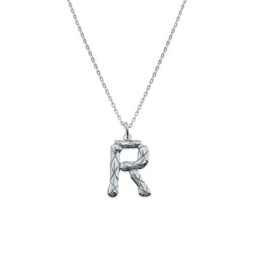 Sterling Silver R Letter Necklace Necklace Letter Necklace Fashion Jewelry Necklaces