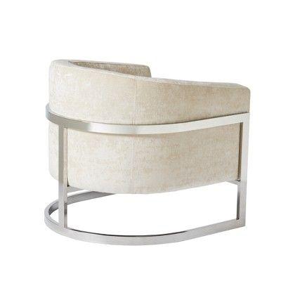 Best Accent Chairs Cream Chrome *D*Lt Unisex Ivory Grey 400 x 300