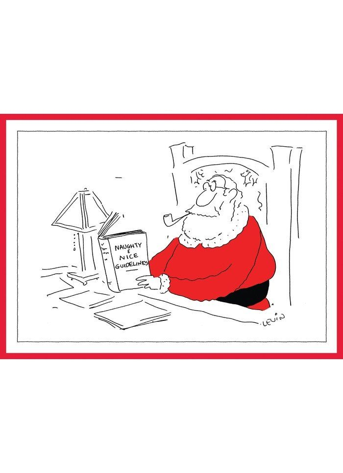 New Yorker Cartoon Christmas Card Naughty Or Nice Guide