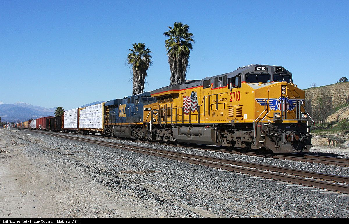 Up c45ah 2710 csx es44ac 816 leads a manifest freight bound to ft