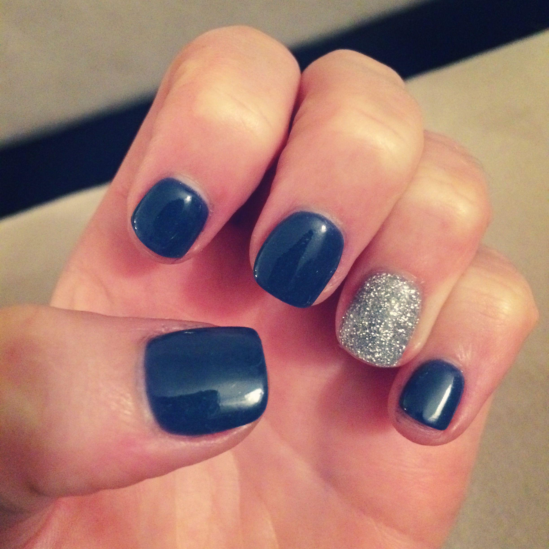 Nexgen Navy And Silver Glitter Nails Nexgen Nails Colors Nexgen Nails Trendy Nails