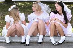 upskirts Naughty bride